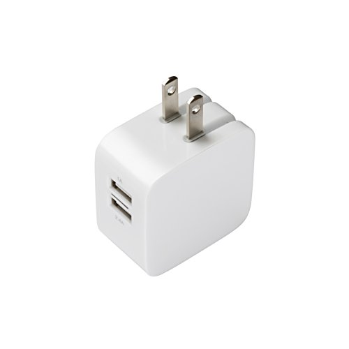 iStore Power Cube Duo+ 2 USB Port Charger Foldable Prongs, 2.4 Amp, White ()