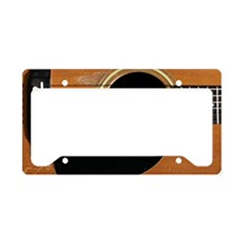 CafePress - Old, Acoustic Guitar License Plate Holder - Aluminum License Plate Frame, License Tag Holder