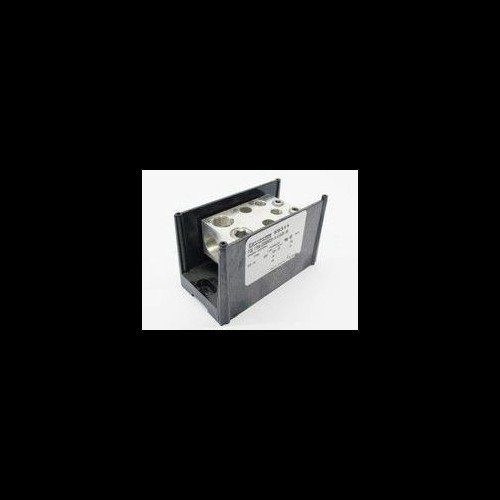 Mersen 69000 Aluminum Large Open Style Box to Stud PDB with 1-Pole and 4 Stud, 4/0-#6 Wire Size, 760 Ampere