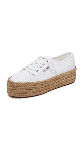 Superga Women's 2790 Cotropew Fashion Sneaker, White, 39 EU / 8 M US