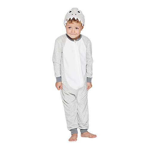 Shark Blanket Sleeper Union Suit - 12 Month Gray]()