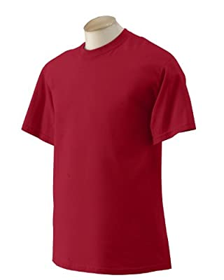 Gildan Men's Seamless Double Needle T-Shirt, Cardinal Red, Medium. G200