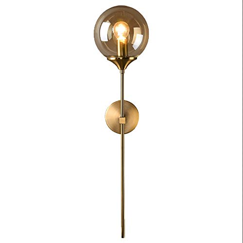 Modern Glass Wall Lamp Gold Led Wall Light Fixtures for Home Decor - Bathroom Cognac Mirrors