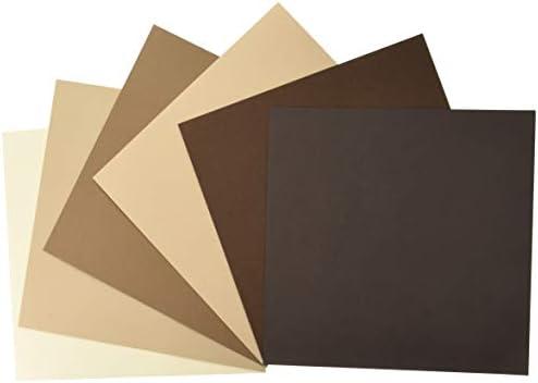 My Colors 210035 Brauntöne Leinwand Karton Bundle (18 Stück), 30,5 x 30,5 cm, mehrfarbig