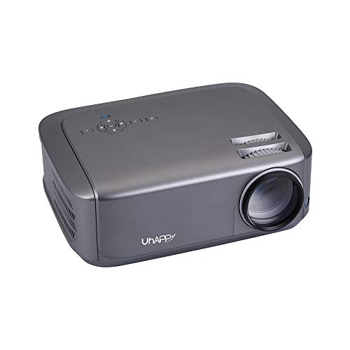 Full HD Video Projector 720P, LED Home Theater Projector, 4K Ultra Clear Playback, Compatible with HDMI/VGA/USB/AV,Gray,Androidversion
