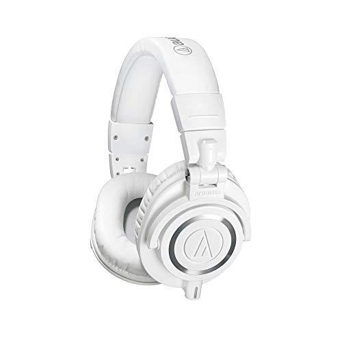 (Audio-Technica ATH-M50xWH Professional Studio Monitor Headphones, White)