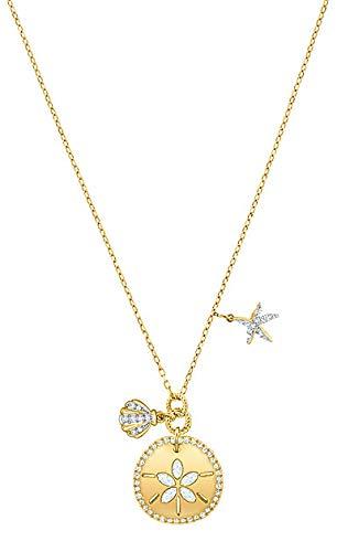 (Swarovski Crystal Ocean Sand Coin Necklace)