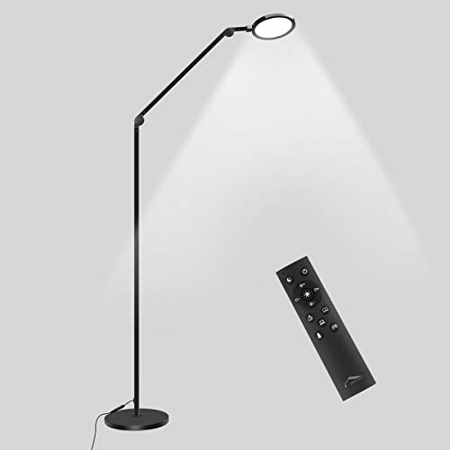 Swing Arm Floor Lamp, 12W Modern Architect LED Floor Lamps w/Remote Control, Stepless Color Temp & Dimmable Light, 70