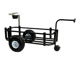 Reels on Wheels PCCART-Black Fishing Cart Sr. Black Powder Coat 16''x44'' 8-rod Holder by Reels on Wheels