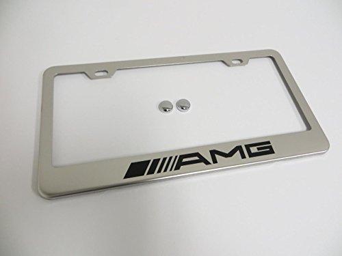 mercedes-amg-stainless-steel-chrome-license-plate-frame-tag-holder