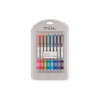 TUL Retractable Gel Pens, Bullet Point, 0.5 mm, Gray Barrel, Assorted Bright