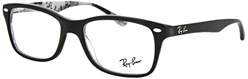 Ray-Ban RX5228 Square Eyeglass Frames, Black/Demo Lens, 50 mm ()