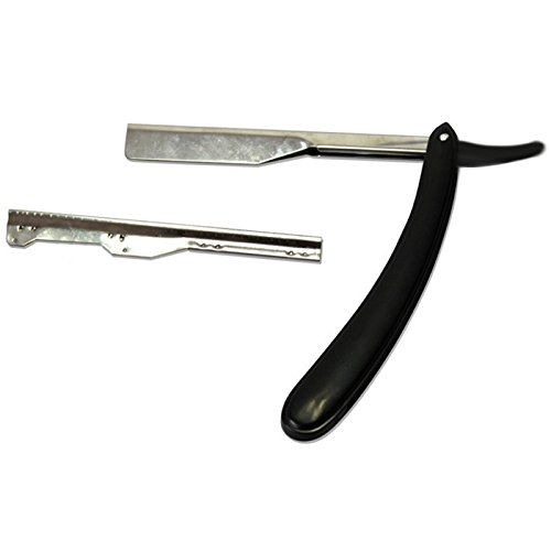 Muicatte Old Classic Stainless Steel Straight Edge Razor Wooden Handle Manual Shaver