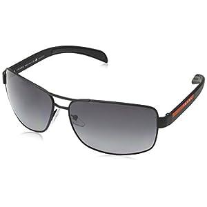 Prada Linea Rossa Men's 0PS 54IS Black Rubber/Grey Polarized