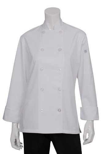 Chef Works Women's Le Mans Chef Coat, White, X-Small by Chef Works