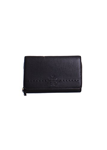 in Black Crossbody Wallet McGraw Burch Leather Flat Tory XBqxYaw0n