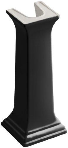 24' Lavatory Basin - KOHLER K-2267-7 Memoirs Bathroom Sink Pedestal, Black Black