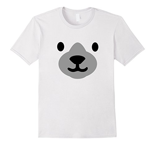 Mens Polar Bear Mask Shirt Halloween Costume for Women Men Kids Large - For Ideas Last Halloween Minute Costume Girls