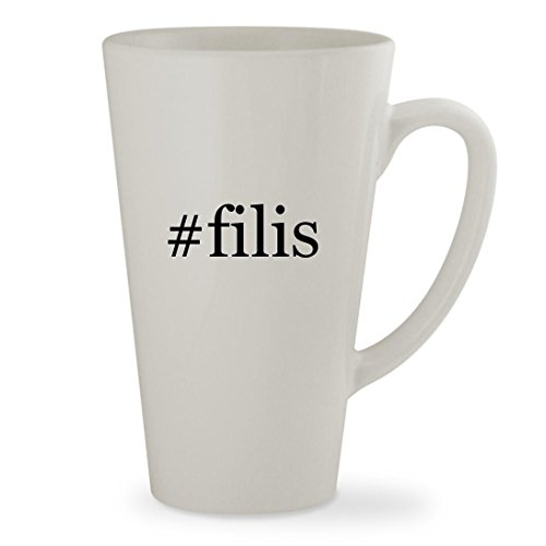 #filis - 17oz Hashtag White Sturdy Ceramic Latte Cup Mug