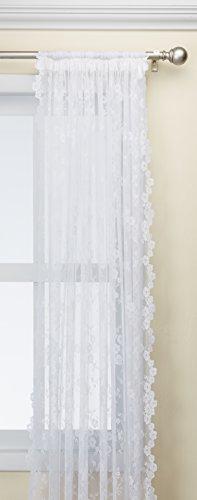 Petite Fleur Lace Panel 56 wide by 84 long in White - Petite Fleur