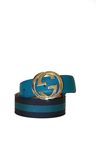 Gucci Belt Canvas and Leather Interlock G Buckle Size 90