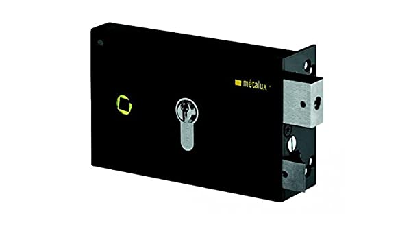 Cerradura de sobreponer negra izquierda a tirada Llave I eje de 45 mm Serie ND10 dom: Amazon.es: Bricolaje y herramientas