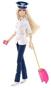 Barbie W3739 - Muñeca Barbie con accesorios de piloto de avión