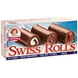 Little Debbie Snacks Swiss Rolls, 12-Count Box (Pack of 6)