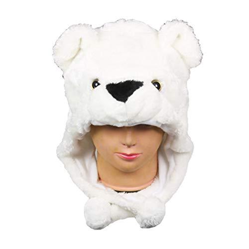 Fluffy Hooded Kids Cap Cute Animal Hat Plush Fleece Winter B108 ()
