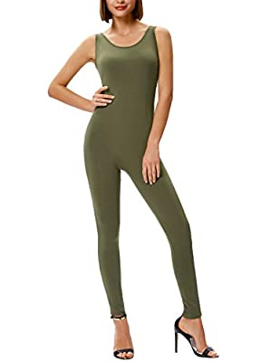 GRACE KARIN Spaghetti Strap Stretchy Jumpsuit Bodycon Romper Bodysuit Playsuit