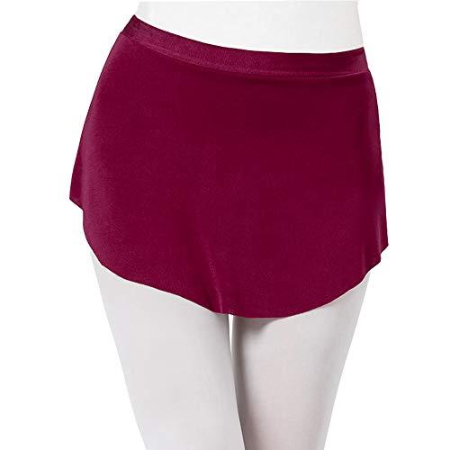 STELLE Womens Opaque Cotton Ballet Wrap Skirt for Dance (Burgundy, Medium)