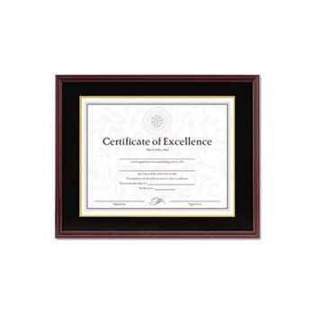 Amazon Com Dax Hardwood Document Certificate Frame With