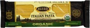 Alessi Organic Linguine Italian Pasta Made with Bronze Dies 16 Oz (Pack of 3)