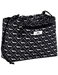 Signature Drawstring Handbag - SCOUT GLAM SQUAD Makeup Bag, Water-Resistant Makeup Pouch and Toiletry Bag for Women with Drawstring Closure and Zipper Compartments (Multiple Patterns Available)