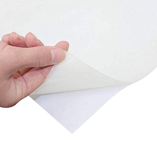Soft Silicone Rubber Sheet White,50 A Durometer, High Temp,Adhesive Back 12 x12 inch, 1mm Thickness ()
