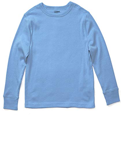 Leveret Long Sleeve Solid T-Shirt 100% Cotton (12 Years, Light ()