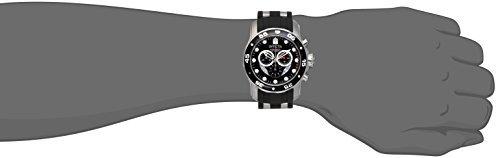 (Invicta Men's 6977 Pro Diver Collection Chronograph Black Dial Black Polyurethane Watch)