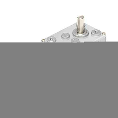 AZSSMUK DC 12V 65RPM Worm Gear Motor High Torque Hobby Servos Turbine Reducer ()