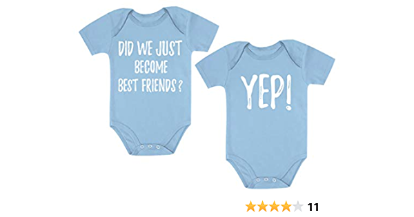 Buy One Get One Free Red Cotton Twins Baby Girl Bodysuit Jumpsuit 2PC Set NB-18M