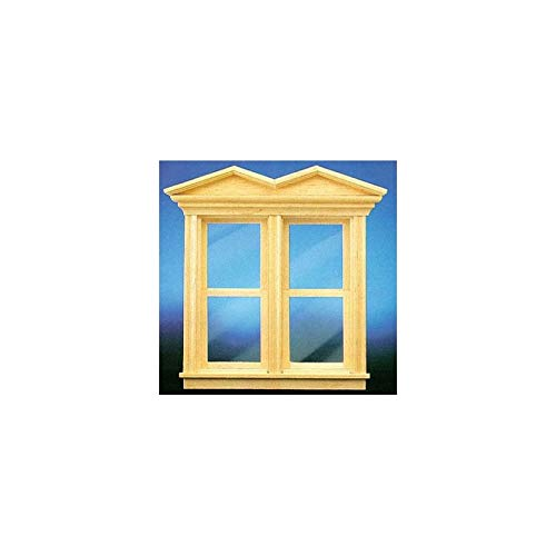 Dollhouse Miniature Vict Hooded Working Double Window ()