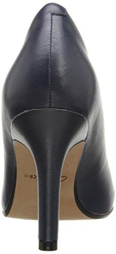 Womens leather navy CLARKS Sandal Ordo Wedge Hevely ZwwOq1f
