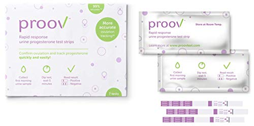 - Proov Progesterone Test (7 PdG Test Strips) - Confirm Ovulation at Home in 5 Minutes | Fertility Tracking Kit