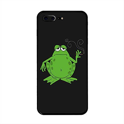 iPhone 7 Plus, iPhone 8 Plus Protective Back Case - Slim Scratch Resistant Clear Soft Plastic Case for iPhone 7 Plus/iPhone 8 Plus (5.5 inches) - (Smoking Toad Frog) ()