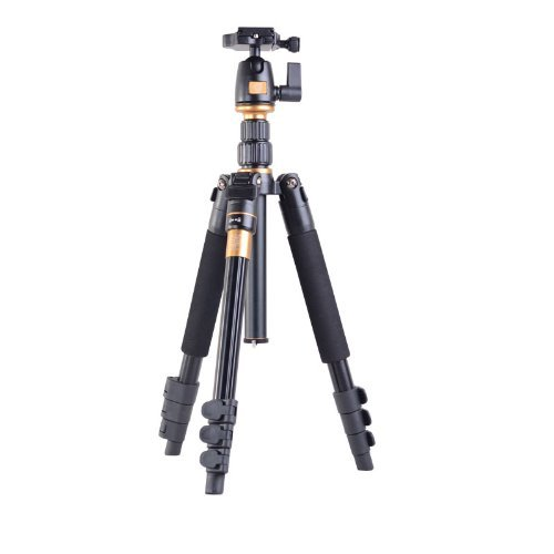 Morjava Q-555 Aluminium Alloy Camera Tripod Professional Portable Magnesium Tripod Monopod & Ball Head SLR Camera for Canon Nikon Pentax Sony