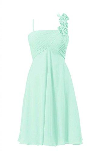 Strap BM2454S Beach Wedding Dress 34 Chiffon Bridesmaid W Dress DaisyFormals mint Party qx1p8n