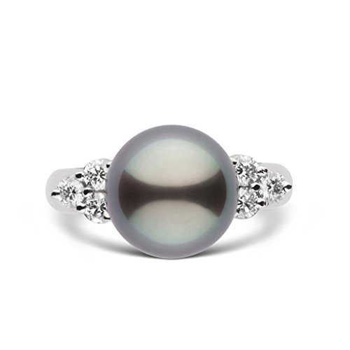 Always Collection 10.0-11.0 mm Tahitian Cultured Pearl Ring - 18K White Gold - Ring Size 5 18k Tahitian Pearl Ring