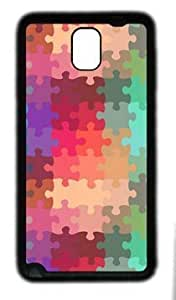 Abstract jigsaw customized Hard samsung galaxy note 3 N9000 TPU Black Case hjbrhga1544
