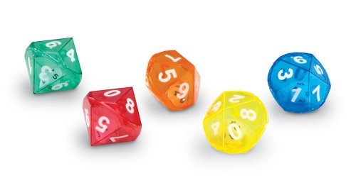 Learning Resources 10-Sided Dice In Dice, Set of 72 (Dice 10 Side)