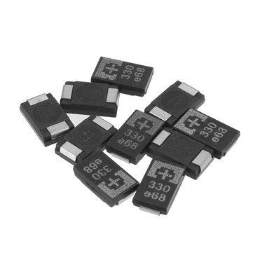 Arduino Compatible SCM & DIY Kits Arduino Compatible SCM Components - 10 Pcs Tantalum Polymer Capacitors 2R5TPE330M9 2.5V 330UF POSCAP Polymer Capacitance