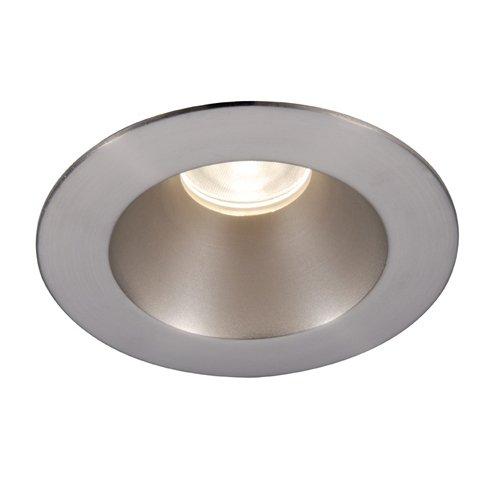 (WAC Lighting HR-3LED-T218N-W-WT 3000K Tesla LED Shower Round Trim, 28-Degree Beam Angle, 3-Inch, Warm)
